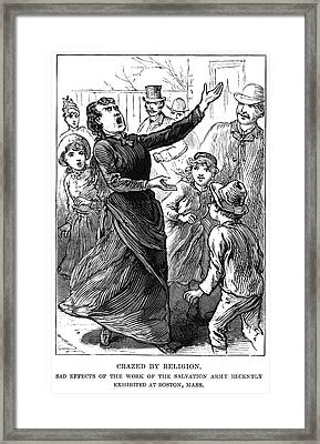 Woman Preaching, 1888 Framed Print by Granger