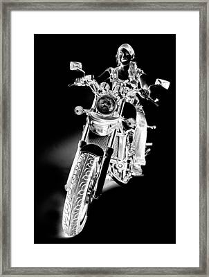 Framed Print featuring the photograph Woman Rider by James Bethanis