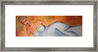 Woman  Framed Print by Simona  Mereu