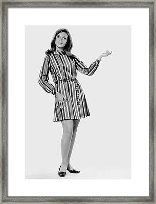 Woman Striking A Pose Framed Print by George Marks