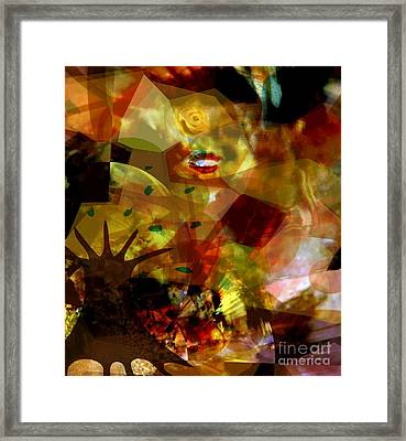 Woman The Roots Of Things Framed Print