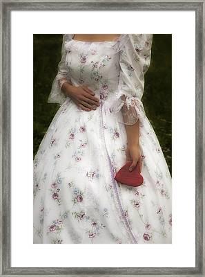 Woman With A Heart Framed Print by Joana Kruse