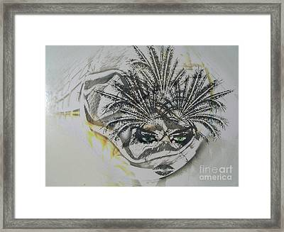 Woman With Cat's Eyes Framed Print