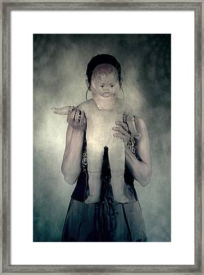 Woman With Doll Framed Print by Joana Kruse