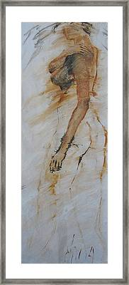 Woman With Hand On Shoulder Framed Print