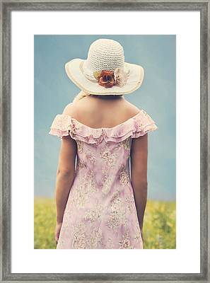 Woman With Hat Framed Print by Joana Kruse