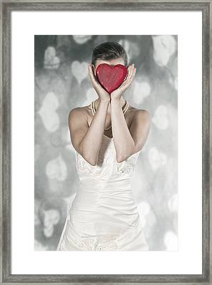 Woman With Heart Framed Print by Joana Kruse