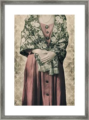Woman With Shawl Framed Print by Joana Kruse