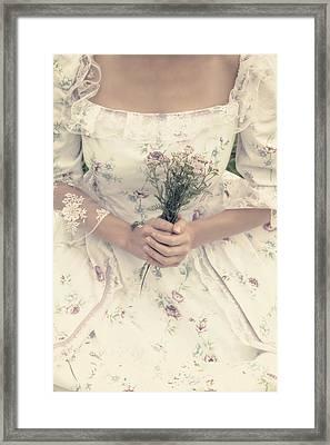 Woman With Wild Flowers Framed Print by Joana Kruse