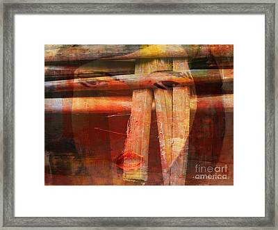Woman Without Family - Femme Sans Famille Framed Print by Fania Simon