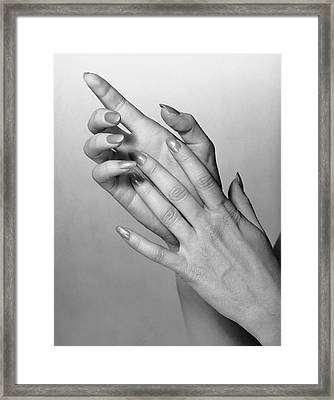 Woman's Hands Framed Print by George Marks