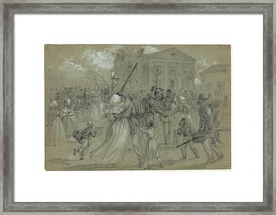 Women And Children Greet Their Loved Framed Print by Everett