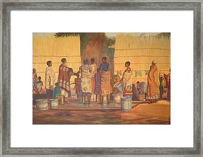 Women At Bolehole Framed Print by Nisty Wizy