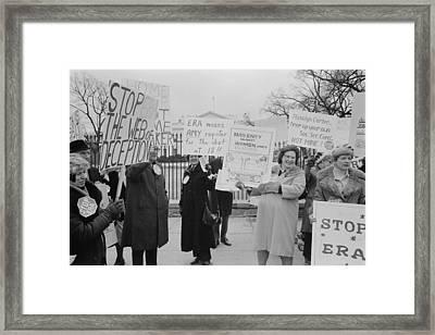 Women Demonstrating Against The Federal Framed Print by Everett