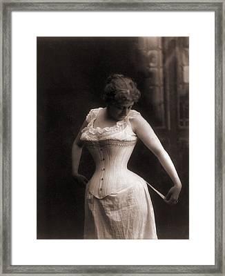 Women In A Whale-boned Corset, 1899 Framed Print by Everett