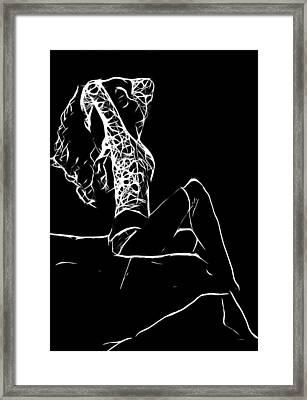 Women In Stockings Framed Print by Steve K