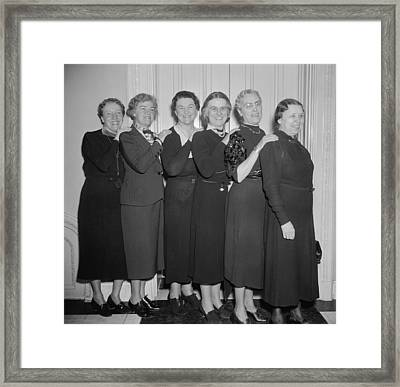 Women Members Of The 75th Congress Framed Print by Everett