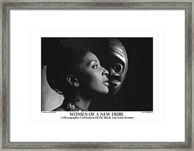 Women Of A New Tribe - Veronica With Mask Framed Print by Jerry Taliaferro