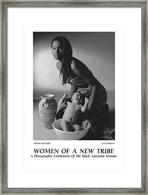 Women Of A New Tribe -chastity With Child Framed Print by Jerry Taliaferro