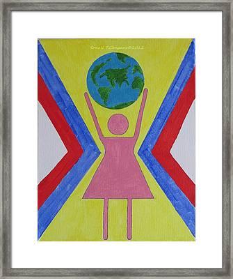 Women Rule The World Framed Print by Sonali Gangane