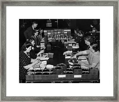 Women Take Part In World War II Framed Print by Everett
