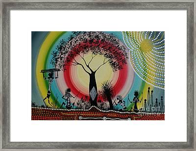 Women Under The Wisdom Tree Framed Print by David Dunn