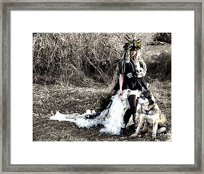 Women Who Run With Wolves Framed Print by Nyla Alisia