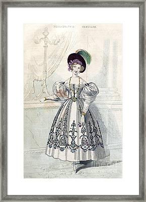 Womens Fashion, 1833 Framed Print