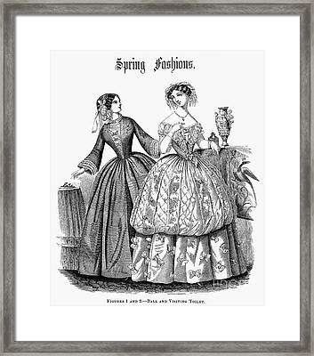 Womens Fashion, 1853 Framed Print