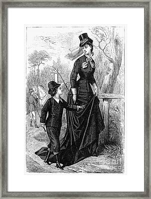 Womens Fashion, 1876 Framed Print by Granger