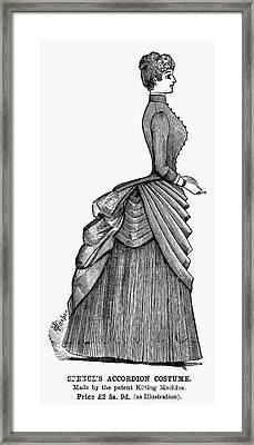 Womens Fashion, 1884 Framed Print by Granger