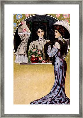 Womens Fashion, As Depicted In A 1909 Framed Print