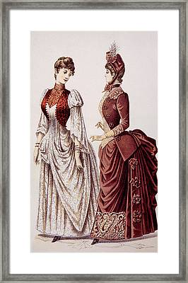 Womens Fashions As Pictured In Godeys Framed Print