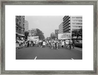 Womens Liberation March From Farrugut Framed Print