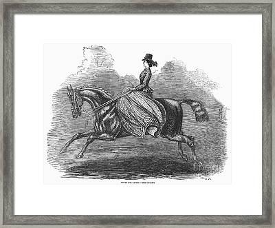 Womens Riding Costume Framed Print by Granger
