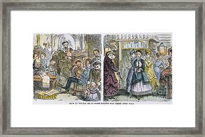 Womens Rights, 1868 Framed Print by Granger