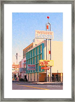 Wonder Lodge Framed Print by Wingsdomain Art and Photography