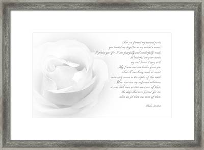 Wonderful Are Your Works - II Framed Print