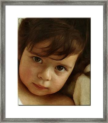 Wondering Eyes Framed Print by Gun Legler