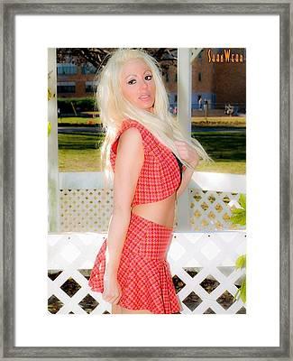 Wondering School Girl Modeling Shanwear Elmont New York Park Framed Print
