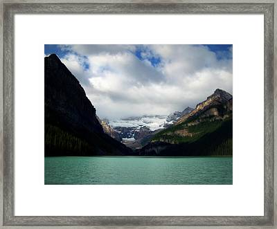 Wonderland Of Lake Louise Framed Print by Karen Wiles