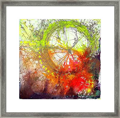 Framed Print featuring the painting Wonderweel In Sunset by Lolita Bronzini