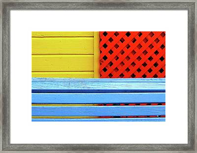 Wood And Colors Framed Print by by Felicitas Molina