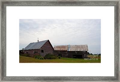 Framed Print featuring the photograph Wood And Log Sheds by Barbara McMahon