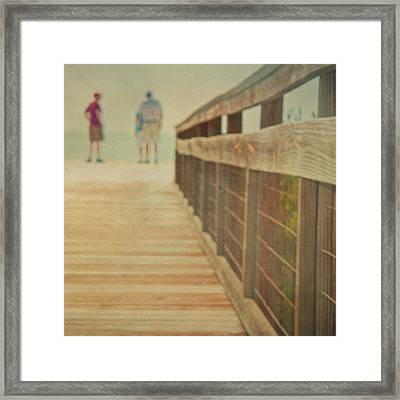 Wood And Mesh Bridge Framed Print by Lynda Murtha