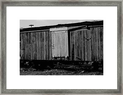 Wood Boxcar Framed Print by Elizabeth  Doran