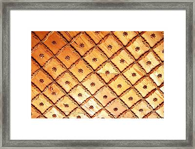 Framed Print featuring the photograph Wood Carved Cassette Ceiling by Alexandra Jordankova