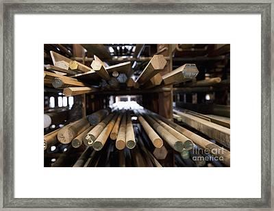 Wood Dowel Rods Framed Print