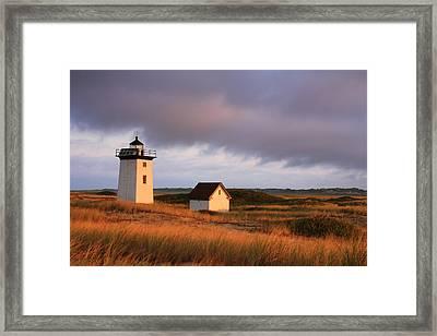 Wood End Lighthouse Landscape Framed Print by Roupen  Baker