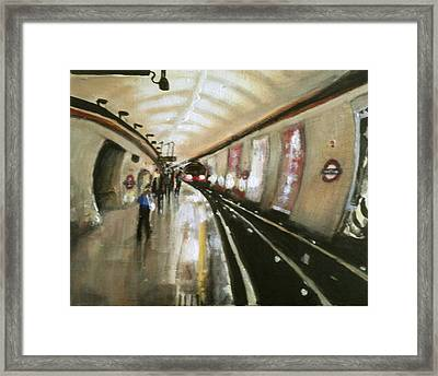 Wood Green Tube Station Framed Print by Paul Mitchell